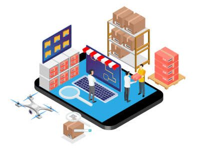 Modern Isometric Product Inventory